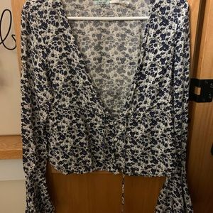 Urban Outfitters Floral Bell Top